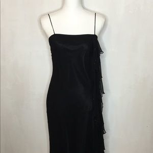 Laundry by Shelli Segal Ruffled A-Line Silk Dress
